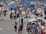 Independence Day revelers hit beaches and fire up BBQs as US records another record infection surge