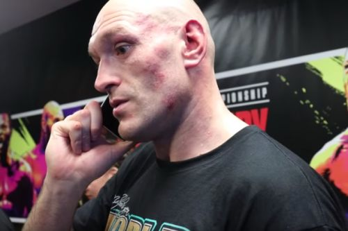 Tyson Fury's emotional phone call to dad John moments after beating Deontay Wilder