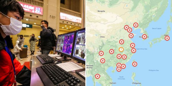 Fears are rising over the spread of China's deadly Wuhan virus, which has now reached the US. Here's how airports around the world are trying to stop it