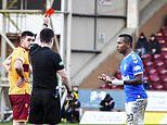 Alfredo Morelos SENT OFF for offensive celebration towards Motherwell fans during Rangers win
