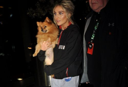 Perrie Edwards all smiles after Little Mix gig as boyfriend Alex Oxlade-Chamberlain scores for England