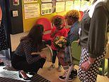 Kate Middleton laughs as adorable little boy who is overcome with shyness over meeting her