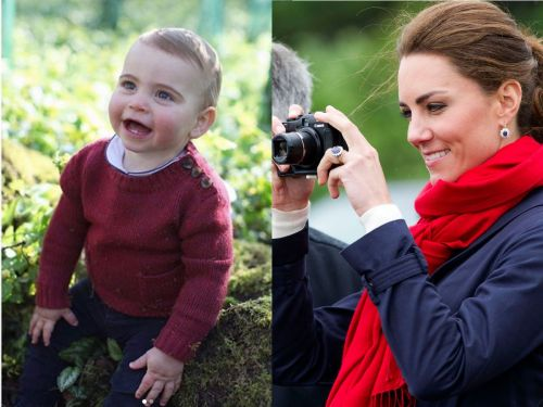 Kensington Palace just shared 2 new photos of Prince Louis taken by his mom Kate Middleton