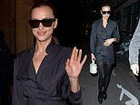 Irina Shayk steps out from Isabel Marant's show at Paris Fashion Week