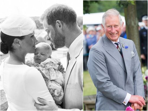 Prince Harry and Meghan Markle just shared a never-before-seen photo of baby Archie with his 'Grandpa' Prince Charles to celebrate his birthday