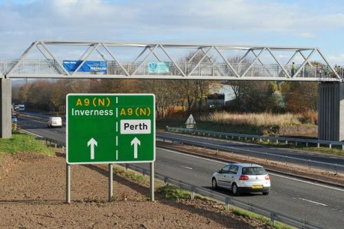 Traffic restrictions after car breakdown on A9 in Perthshire