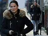Pregnant Pippa Middleton recycles £99 Zara coat and skinny jeans to walk in London