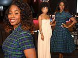 Kirby Howell-Baptiste brings back the hoop dress with Logan Browning at SAG Awards cocktail party
