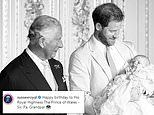 Prince Harry and Meghan Markle share new photo from Archie's Christening on Prince Charles birthday