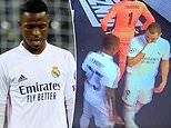 Tunnel footage reveals Karim Benzema laying into Real Madrid team-mate Vinicius at half-time