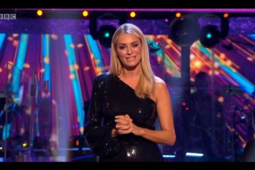 Strictly host Tess Daly kicks off first live show in glamorous sequin jumpsuit