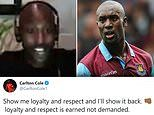 Carlton Cole hits out at Chelsea fans who criticised him for celebrating West Ham's winner