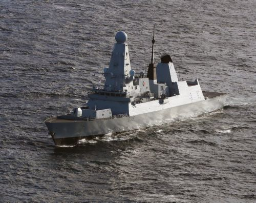 MoD denies shots fired at British warship saying it was routine gunnery exercise