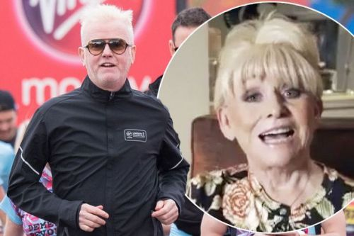 Barbara Windsor makes rare public appearance to wish Chris Evans good luck with charity marathon