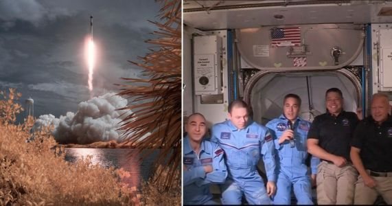 SpaceX Dragon astronauts enter International Space Station after successful dock
