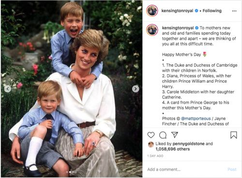 You might recognise Diana's watch in the sweet mother's day photo