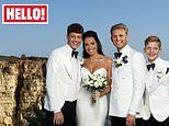 Jeff Brazier wedding: FIRST image of presenter and wife Kate Dwyer shows bride in shoulderless gown