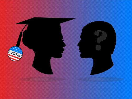 Insider poll: People without a college degree are much more likely than others to say they don't intend to vote this year