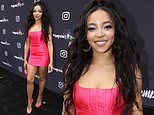 Tinashe is pretty in pink as she leads stars at the Instagram + Facebook Women in Music Luncheon