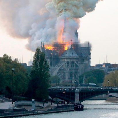 Huge fire breaks out at Notre-Dame Cathedral in Paris