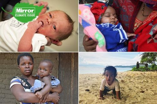 Newborns who face extreme weather, food shortages and disease in climate change hotspots