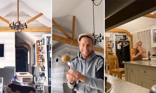 Inside Olly Murs' country-style kitchen at Essex home