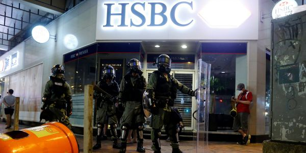Hong Kong protestors are calling for massive ATM withdrawals in an economic warning to China