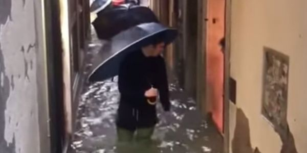 Video shows tourists and locals wading through thigh-deep water in Venice during its worst flooding in more than 50 years