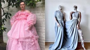 People are creating couture looks at home and it is genius