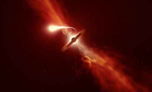 Supermassive black hole 'spaghettifies' doomed star in tidal disruption event