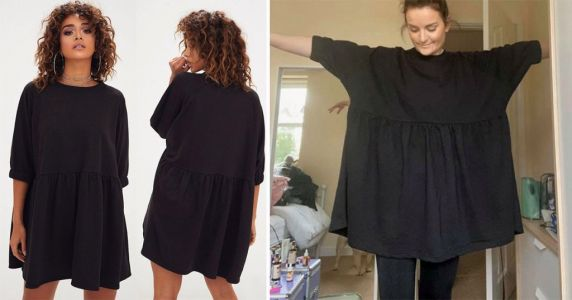 Woman's PrettyLittleThing dress 'looks like a sack' as it's double the width she expected