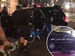 SUV driver sparks panic by driving into crowd and slamming into bikes