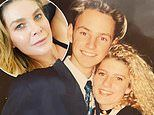 Natalie Bassingthwaighte shows off her curly blonde locks in a throwback photo