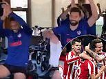 """Simeone sheepishly says he's """"not thinking"""" about Anfield leg after Atletico beat LFC 1-0"""