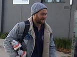Stabbed Jack Steven arrives for training all smiles after he was attacked