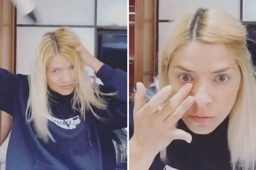 Holly Willoughby goes make-up free in video as she details glam routine