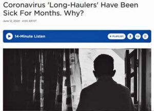 """""""Long Haulers"""" to the Rescue? Barrage of Covid-19 Media Stories, Studies and Registries Spells Hope for ME/CFS"""