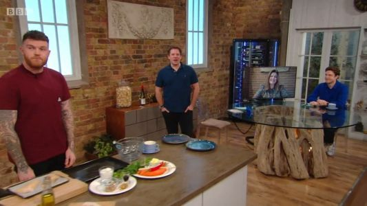 Saturday Kitchen's Matt Tebbutt red-faced as he's caught swearing live on air when he thought his mic was off