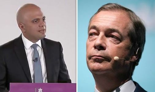 Shock moment Sajid Javid praises Brexit Party leader in speech - 'I applaud Nigel Farage'