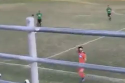 Scotland fans bait red card keeper into losing the plot at Cypriot third division clash