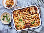 Live life on the veg with Prue & Peta Leith! Big roasted vegetable lasagne