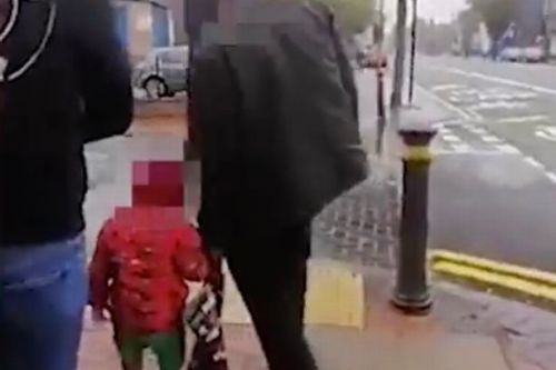 Toddler found wandering streets alone sobs when asked where parents are