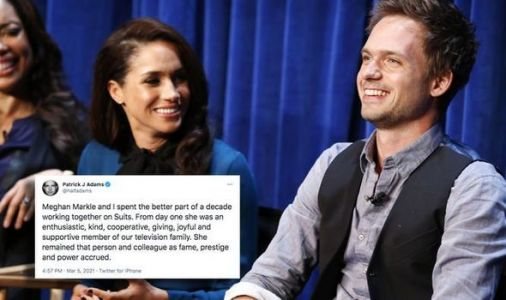 Meghan Markle's Suits co-star Patrick J Adams defends Duchess in emotional Twitter message