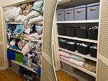 How mum totally transformed her 'embarrassing' linen cupboard with bargain buys from Kmart