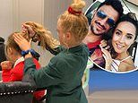 Peter Andre shares rare photo of daughter Amelia as big sister Princess does her hair for school