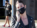 Camila Morrone rocks black leather jacket in Malibu as things get 'serious' with Leonardo DiCaprio