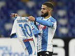 Napoli 4-0 Roma: Lorenzo Insigne dedicates goal to Diego Maradona as home side take comfortable win