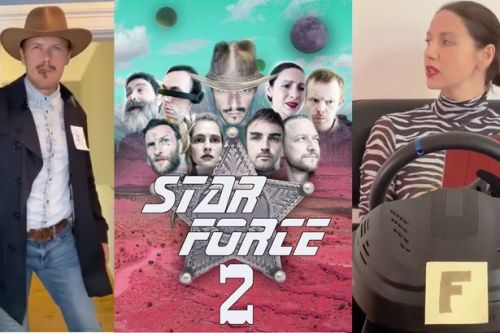 Outlander's Sam Heughan and Caitriona Balfe star in spoof Star Force 2