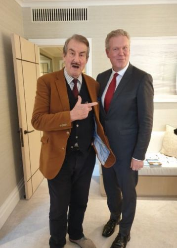 """Boycie from """"Only Fools and Horses"""" teams up with Serbia's Crown Prince Couple for charity"""