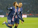 PSG 2-0 Nantes: Kylian Mbappe scores an audacious backheel while Neymar nets from the spot